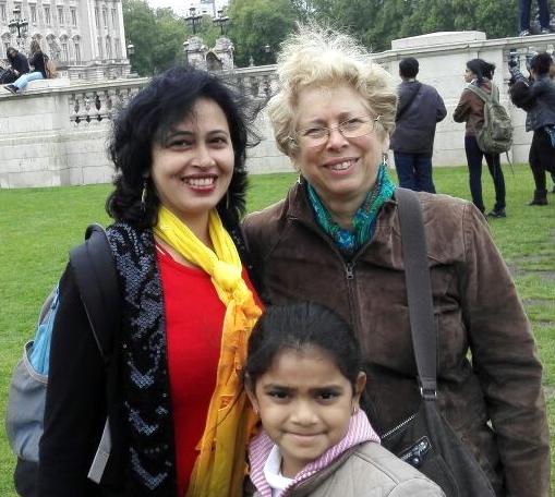 Dr Monica Khanna with Ms Umemoto